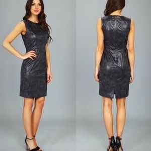 Vince Camuto size 8 Grey Faux Leather Classy Dress
